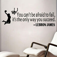 Lebron James Quote Basketball Wall Sticker Decal Mural Wallpaper Boys Room Decor