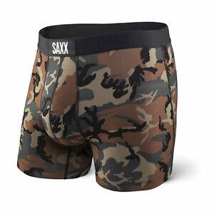 Saxx Mens Vibe Trunk Boxer Briefs Sports Underwear, Woodland Camo