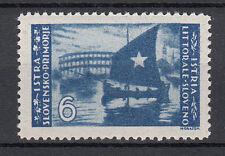 Istria e  Litorale Sloveno 1946 L. 6 oltremare senza gomma  Sassone n. 66