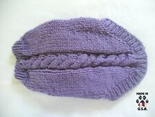 Purple cable knit sweater for dogs-size XS-handknit in USA