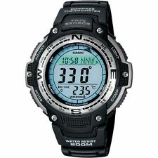 Casio Wrist Watch W/ Compass, Thermometer,Alarms & LCD Screen SGW100-1V For Men