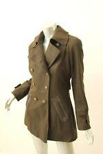 DKNY Military Green Wool-Blend Pea Coat 6