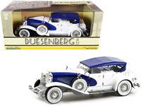 DUESENBERG II SJ BLUE & WHITE 1/18 DIECAST MODEL CAR BY GREENLIGHT 13589