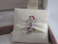 New w/Tag Pandora Christmas Stocking w/Red Enamel & CZ's  Charm #791773CZ Bear