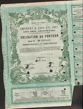 TOP DECO => emprunt VILLE de PARIS 1931 (J)