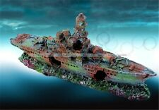 Aquarium Ornament Destroyer Navy War Boat Ship Wreck Fish Tank Decoration New S2