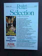 "Selection Reader's Digest Magazine Mensuel Juillet 1993 ""Mafia du Tabac, Russie"