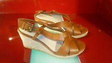 lands end wedge heel strappy women's size 7.5 shoes good condition