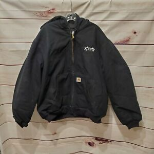 Carhartt J140BLK Hooded Quilted Lined Jacket Mens XL
