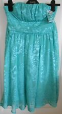 BNWT River Island Mint Green Floral Floaty Lined Chiffon Strappless Dress size 8