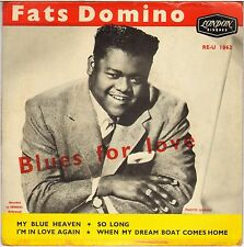 """RARE FATS DOMINO """"BLUES FOR LOVE"""" FRENCH 50'S EP LONDON RE-U 1062"""