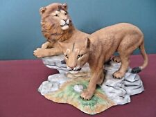 LENOX WILDLIFE OF THE SEVEN CONTINENTS - LIONS of AFRICA 1988 - PORCELAIN