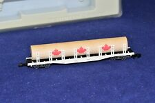 Z Scale Marklin mini-club White Canadian Log Freight Car with Load