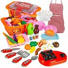 Kids Pretend Play, Food Set Fast Food Toy for Boys and Girls, Kitchen, 34-Piece
