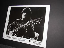 JOSE FELICIANO SIGNED VINTAGE 8X10 PHOTO