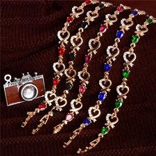 Women's girls fashion austrian crystal gold beautiful heart bracelet Jewellery