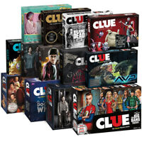USAopoly CLUE®: Rick and Morty, Golden Girls, Big Bang Theory , FNAF and more