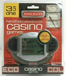 New! Coleco HANDHELD ELECTRONIC CASINO GAMES 3 In One W/Stylus Touch Screen