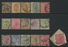 Natal Collection 16 QV Stamps Used