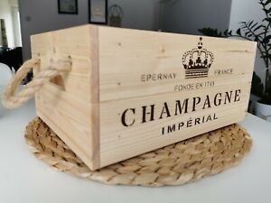 Vintage Style  Wooden Champagne Wine Crate Box Storage Shabby Chic