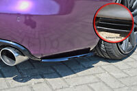 Heckansatz Spoilerecken Seitenteile aus ABS für Audi A4 B8 schwarz glanz