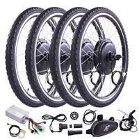 """500W/1000W 26"""" Front/Rear Wheel Electric Bicycle Motor Kit E-Bike Conversion Kit"""