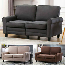 61 in Classic Upholstered Sofa Couch Loveseat Premium Material PaddedCushion