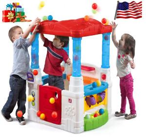 🎁 Kids Great Crazy Maze Ball Pit Playhouse Plastic Art Center Desk Easel Toy