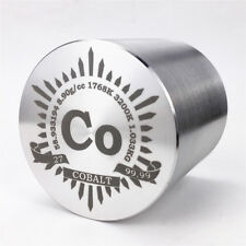 1Kg Finish Turning Cobalt Metal Cylinder 53×53mm 99.99% Engraved Periodic Table