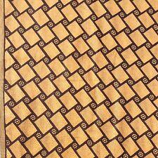 Geometric Cotton Fabric American Print Co Brown Caramel