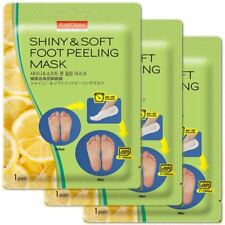 3Pairs  Shiny and Soft Purederm exfoliating Foot Peeling Mask