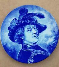 """Rembrandt Boch Louviere Vintage Plate Delft Blue White 11"""" (28,5 cm)"""