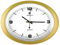Oval Wall Clock - PERFECT - silent sweep , modern design