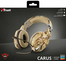TRUST GXT 322D CARUS DESERT CAMOUFLAGE GAMING HEADSET FOR PC LAPTOP PS4 XBOX ETC