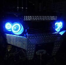 4x Blue LED Addon Angel Eye Headlight Halo Rings for Kawasaki Brute Force