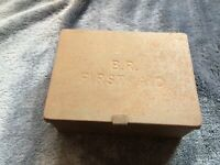 nice old small size british rail BR first aid tin & GWR tool railwayana