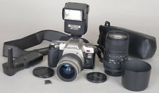 Pentax AF MZ6 w/28-80mm + 100-300mm + Battery Grip + AF220T Flash BODY NEEDS CLA