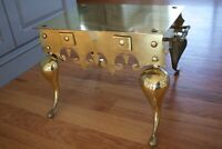 Vintage Ornate Brass Footstool