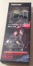 Resident Evil Revelations 2 Micro USB Cable Black Biohazard Brand New RARE