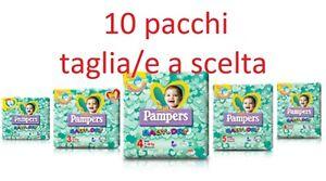 PANNOLINI PAMPERS BABY DRY 10 PACCHI TAGLIA A SCELTA 2-3-4-5-6 ASSORTIBILI