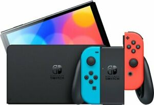 Nintendo Switch OLED Model HEG-001 Handheld Console - 64GB - Black/Neon Red/Neon