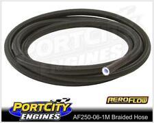 Aeroflow PTFE Teflon Braided Hose Black -6AN 1 Metre 250 series AF250-06-1M