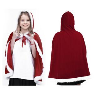 Kids Childrens' Christmas Costume Santa Hooded Cosplay Cape Robe for Boy Girl