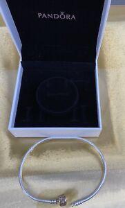 Original Pandora Silber Armband  ca. 23cm mit 585 Goldverschluss ALE 585