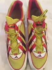 Adidas Mans Track Spikes Size 15 Never Worn! And Guaranteed! (Yellow/Red/Black)