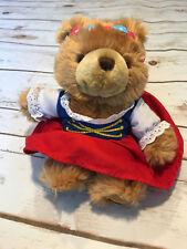 """Busch Gardens Germany Teddy Bear Girl Drindl Dress Stuffed Animal Plush Toy 8"""""""