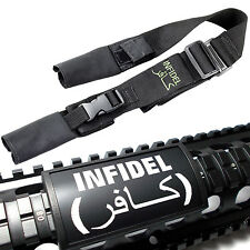 "2 Point Adjustable Tactical "" Infidel "" Sling w/ Custom Gun Picatinny Rail Cover"