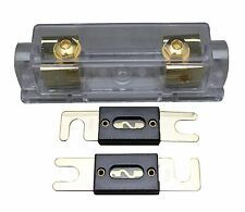 A4A ANL Fuse Holder Distribution INLINE 0 4 8 GA Gold Plated Free 100A ANL Fuse