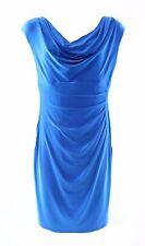 2019-1 Ralph Lauren Womens Petites Pleated Cowl Neck Wear to Work Dress Sz 0P
