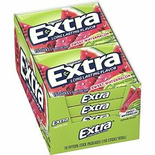 Wrigley's Extra Sugar Free Sweet Watermelon Chewing  Gum (Pack Of 10)